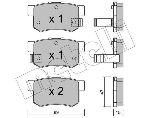 Bremsbelagsatz, Scheibenbremse METELLI 22-0173-0