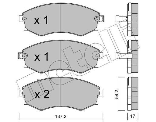 Bremsbelagsatz, Scheibenbremse METELLI 22-0188-0 Bild 1