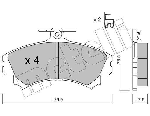 Bremsbelagsatz, Scheibenbremse METELLI 22-0216-1