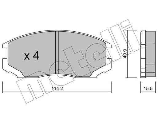 Bremsbelagsatz, Scheibenbremse METELLI 22-0221-0