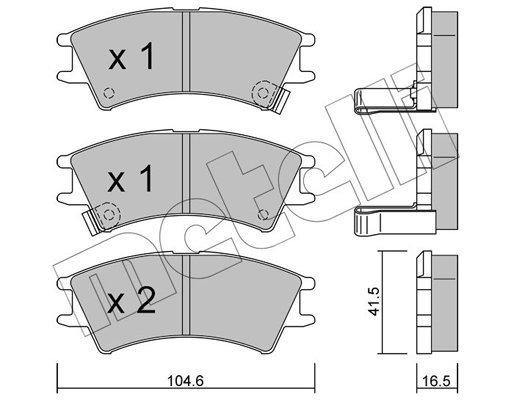 Bremsbelagsatz, Scheibenbremse METELLI 22-0361-0