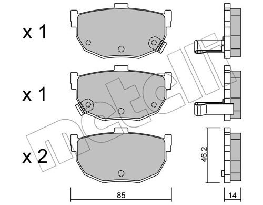 Bremsbelagsatz, Scheibenbremse METELLI 22-0362-0