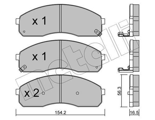 Bremsbelagsatz, Scheibenbremse METELLI 22-0374-0