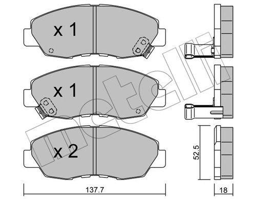 Bremsbelagsatz, Scheibenbremse METELLI 22-0384-0