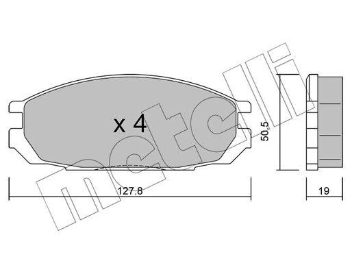 Bremsbelagsatz, Scheibenbremse METELLI 22-0409-0