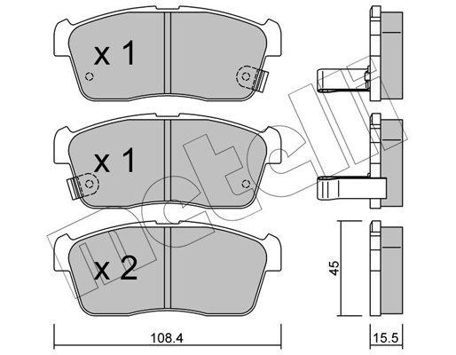 Bremsbelagsatz, Scheibenbremse METELLI 22-0415-0