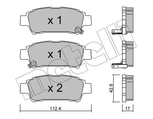 Bremsbelagsatz, Scheibenbremse METELLI 22-0428-0