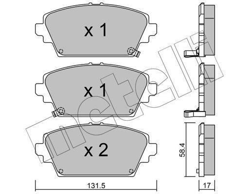 Bremsbelagsatz, Scheibenbremse METELLI 22-0464-1
