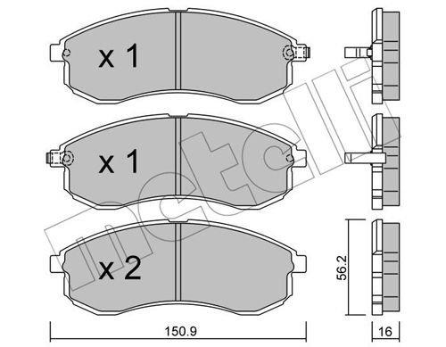 Bremsbelagsatz, Scheibenbremse METELLI 22-0482-0