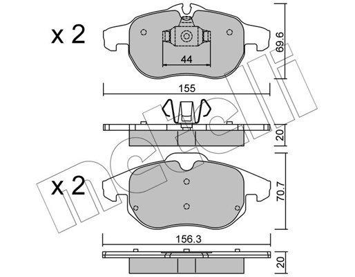 Bremsbelagsatz, Scheibenbremse METELLI 22-0540-0