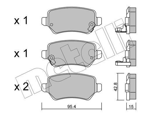 Bremsbelagsatz, Scheibenbremse METELLI 22-0542-0