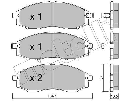 Bremsbelagsatz, Scheibenbremse METELLI 22-0611-0