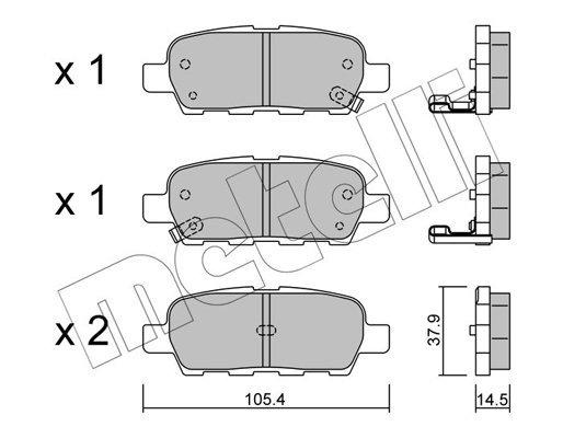Bremsbelagsatz, Scheibenbremse METELLI 22-0612-0