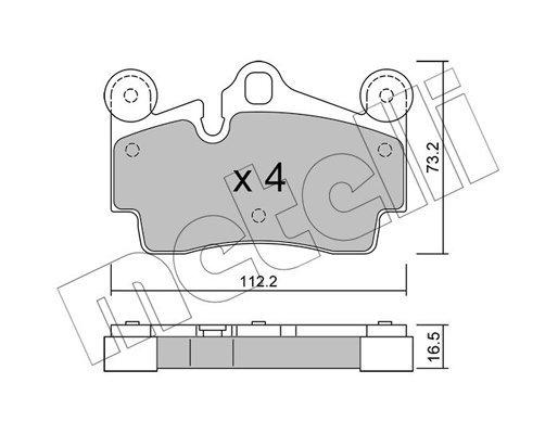 Bremsbelagsatz, Scheibenbremse METELLI 22-0655-0