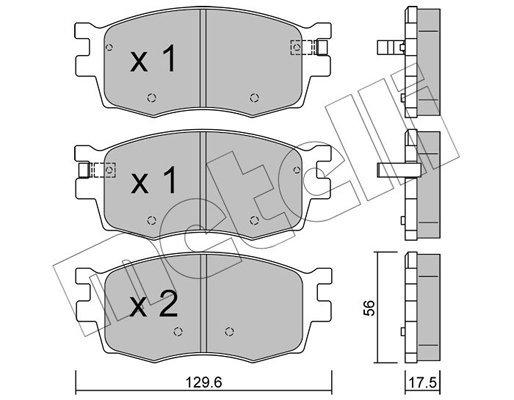 Bremsbelagsatz, Scheibenbremse METELLI 22-0724-0