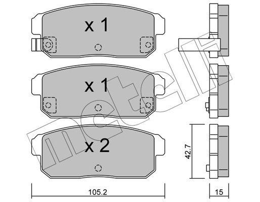 Bremsbelagsatz, Scheibenbremse METELLI 22-0733-0