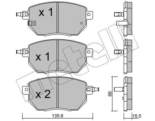 Bremsbelagsatz, Scheibenbremse METELLI 22-0741-0