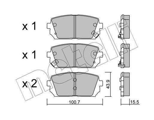 Bremsbelagsatz, Scheibenbremse METELLI 22-0784-0