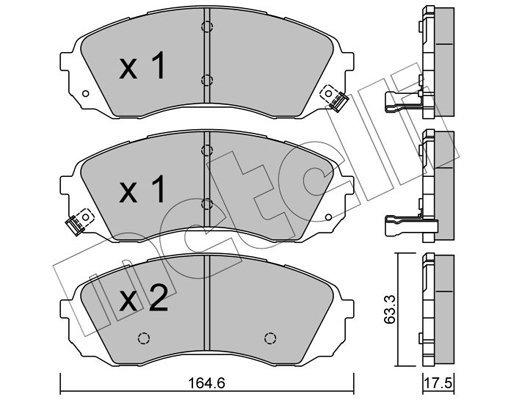 Bremsbelagsatz, Scheibenbremse METELLI 22-0785-0
