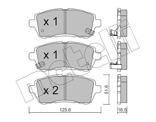 Bremsbelagsatz, Scheibenbremse Vorderachse METELLI 22-0793-1