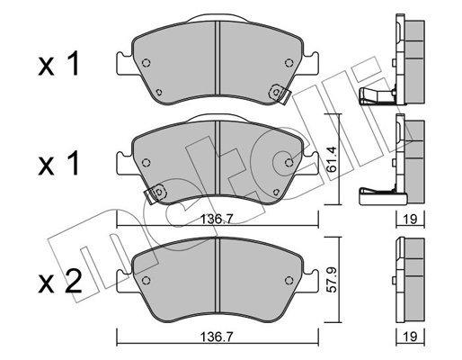 Bremsbelagsatz, Scheibenbremse METELLI 22-0794-0
