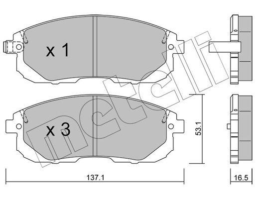 Bremsbelagsatz, Scheibenbremse METELLI 22-0876-0