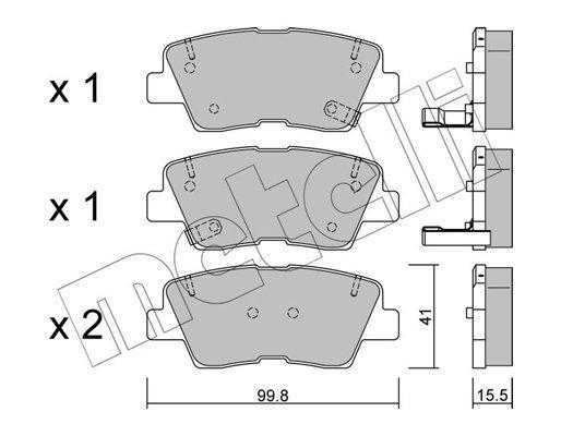 Bremsbelagsatz, Scheibenbremse METELLI 22-0886-0 Bild 1