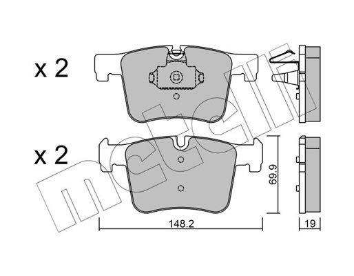 Bremsbelagsatz, Scheibenbremse METELLI 22-0961-0