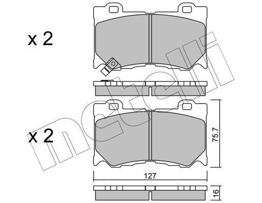 Bremsbelagsatz, Scheibenbremse METELLI 22-1029-0