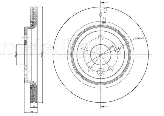 Bremsscheibe Hinterachse METELLI 23-0993C