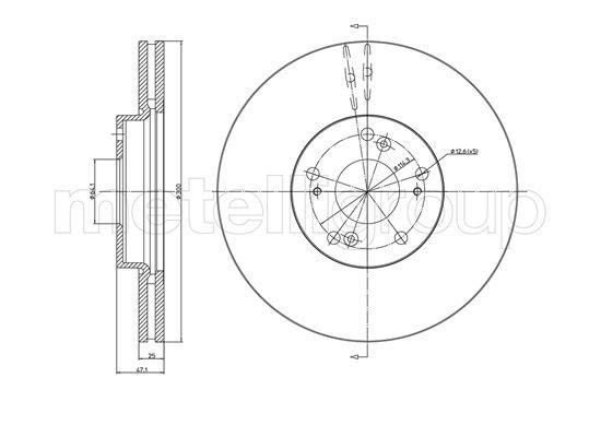 Bremsscheibe Vorderachse METELLI 23-0997C