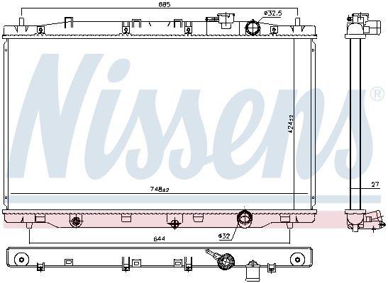 Kühler, Motorkühlung NISSENS 606443