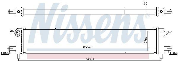 Kühler, Antriebsbatterie NISSENS 606545 Bild 4