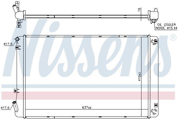 Kühler, Antriebsbatterie NISSENS 606608 Bild 1