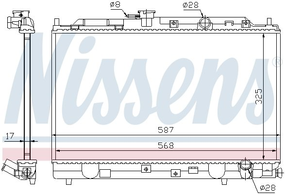 Kühler, Motorkühlung NISSENS 62269