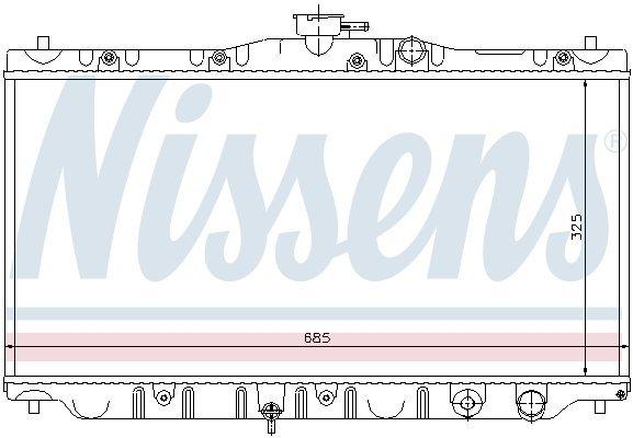 Kühler, Motorkühlung NISSENS 63304