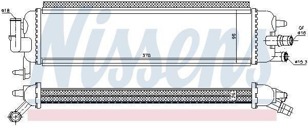 Kühler, Antriebsbatterie NISSENS 636038 Bild 1