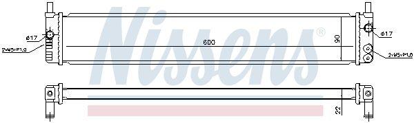 Kühler, Antriebsbatterie NISSENS 646882 Bild 1