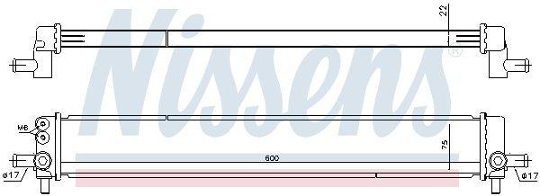 Kühler, Antriebsbatterie NISSENS 646945 Bild 1