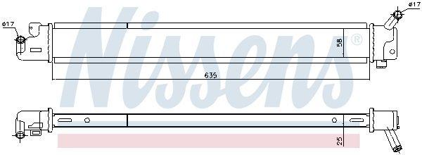 Kühler, Antriebsbatterie NISSENS 666209 Bild 1