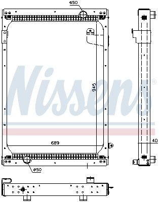 Kühler, Motorkühlung NISSENS 67195