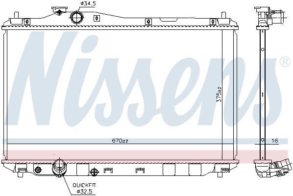 Kühler, Motorkühlung NISSENS 68093