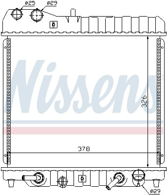 Kühler, Motorkühlung NISSENS 68111