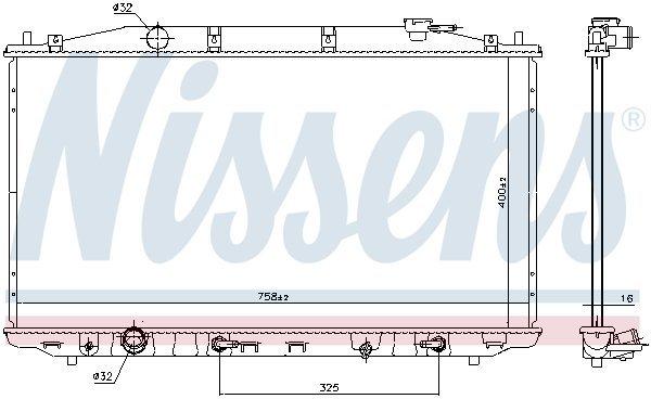 Kühler, Motorkühlung NISSENS 68138
