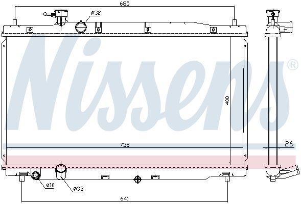 Kühler, Motorkühlung NISSENS 681386