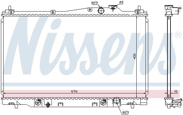 Kühler, Motorkühlung NISSENS 68142