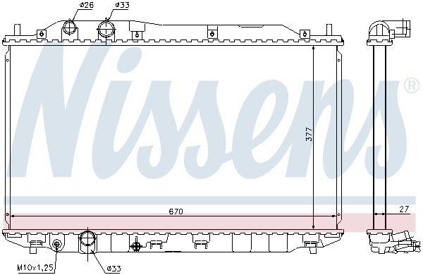 Kühler, Motorkühlung NISSENS 68143