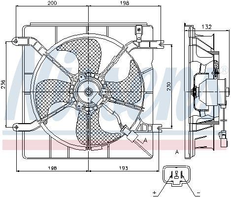 Lüfter, Motorkühlung 12 V NISSENS 85046