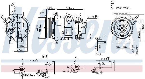 Kompressor, Klimaanlage NISSENS 890030