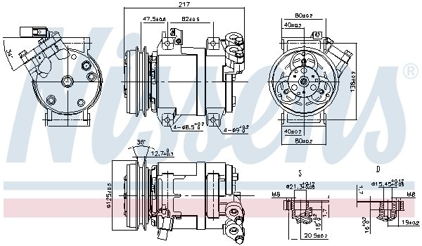 Kompressor, Klimaanlage NISSENS 890064